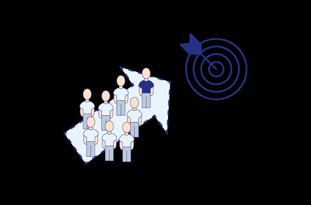 Eine Grafik, die Projekt- & Programmmanagement veranschaulicht