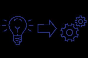 Grafik für Umsetzungsorientierte Management Beratung mit dem Beratungsansatz des Umsetzungsfokus